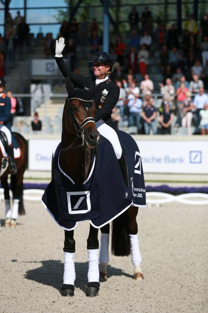 Isabell Werth wins the Deutsche Bank Prize 2021. Photo: CHIO Aachen/ Michael Strauch