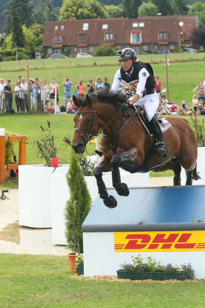 Ingrid Klimke und Horseware Hale Bob OLD im DHL-Preis © CHIO Aachen/Foto Studio Strauch