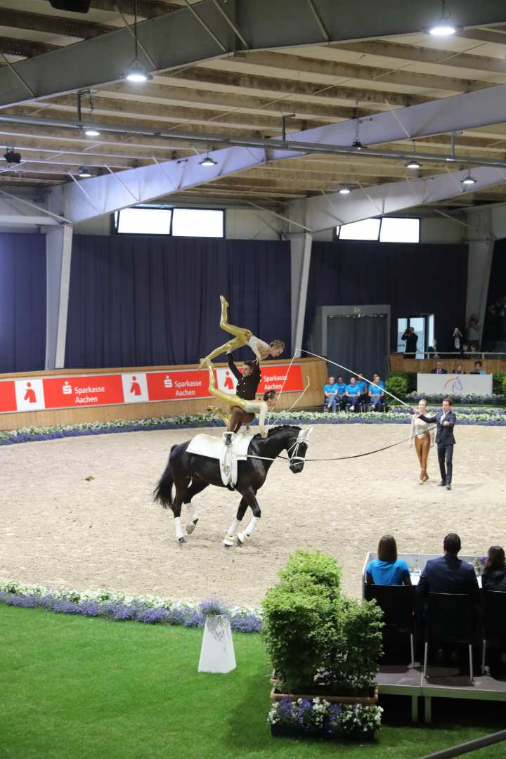Vaulting at CHIO Aachen 2019. Photo: CHIO Aachen/Michael Strauch