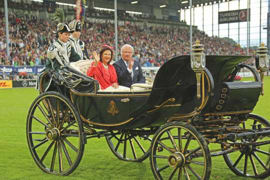 The Swedish royal couple at the CHIO Aachen opening ceremony 2016.