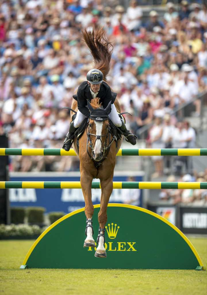 """Aachen success story: Marcus Ehning and """"Pret A Tout"""", here in the Rolex Grand Prix 2018."""