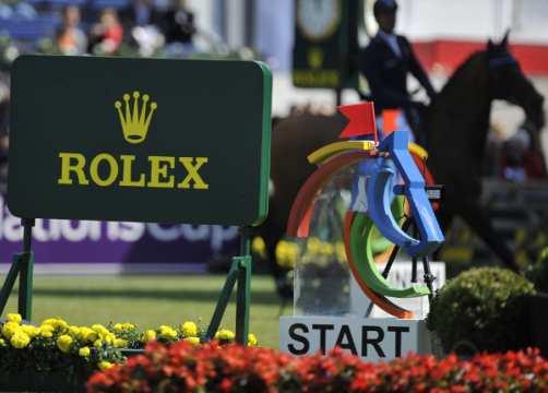 Rolex sign at Start
