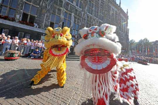 Traditioneller chinesischer Löwentanz im Herzen von Aachen - der CHIO macht's möglich. Foto: CHIO Aachen/ Andreas Steindl