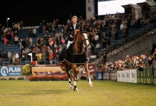 One last round in Aachen: Marcus Ehning and Pret A Tout.  Photo: CHIO Aachen/ Jil Haak