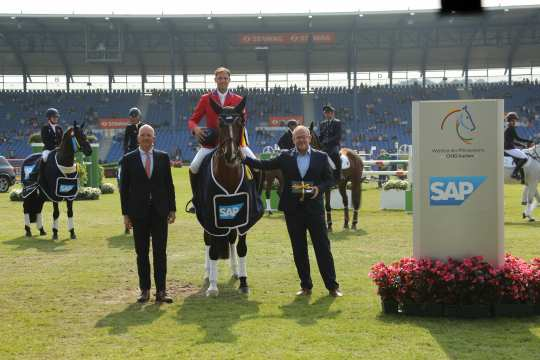 William Coleman wins the SAP-Cup. Photo: CHIO Aachen/ Michael Strauch