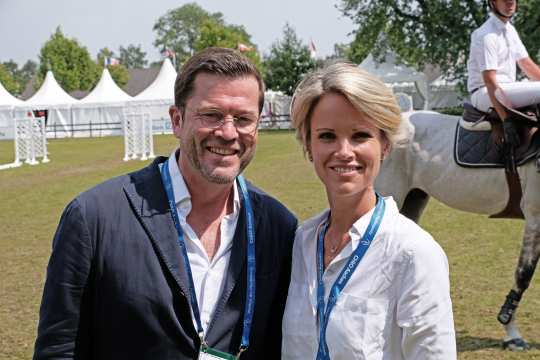 Karl-Theodor and Stephanie zu Guttenberg at CHIO Aachen 2018.