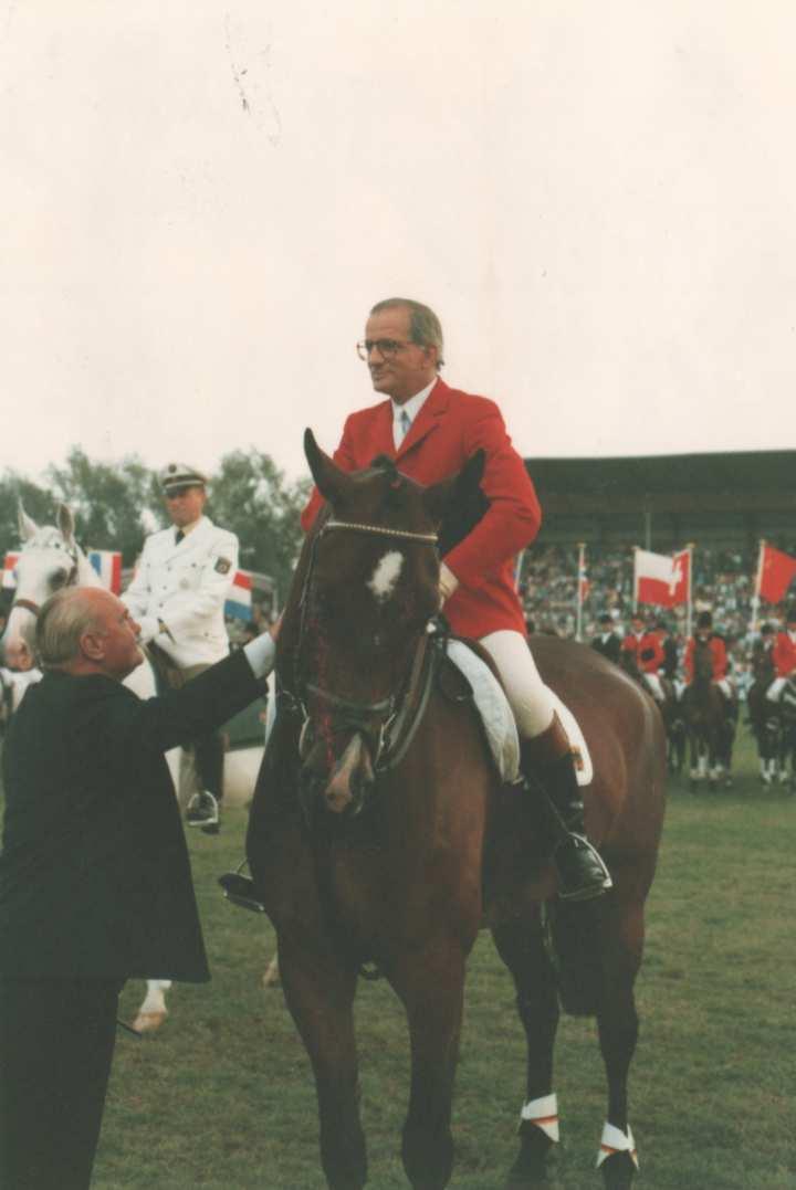 Abschied vom aktiven Springsport 1986 in der Soers. Foto: CHIO Aachen/ Archiv