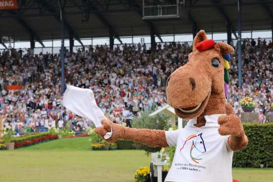 Karli at the Farewell to the nations. Photo: CHIO Aachen / Michael Strauch