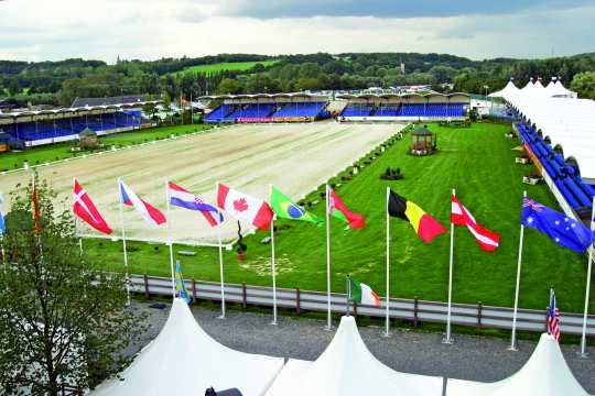 Das Fahrstadion bei den Weltreiterspielen in Aachen im Jahr 2006.