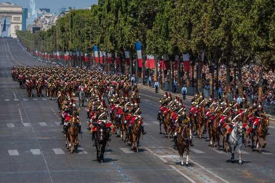 Die Garde républicaine. Foto: Fabrice Bourdeau