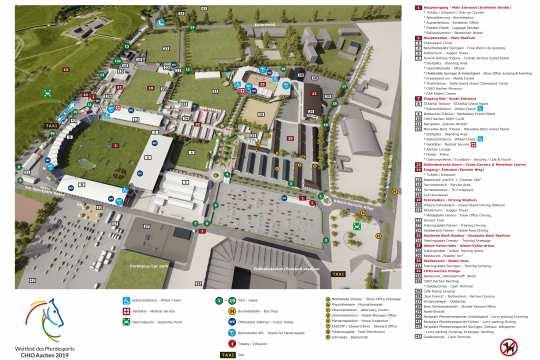 Der Geländeplan zum CHIO Aachen 2019.