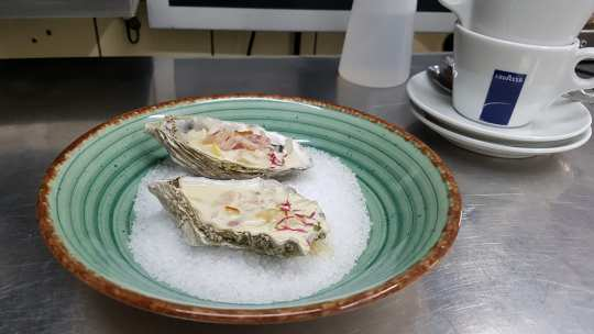 Ja Annica, auch Austern können schmecken.