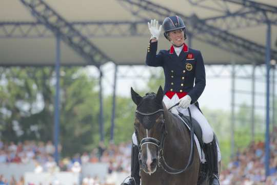 Charlotte Dujardin at the CHIO Aachen 2014. Picture: Arnd Bronkhorst