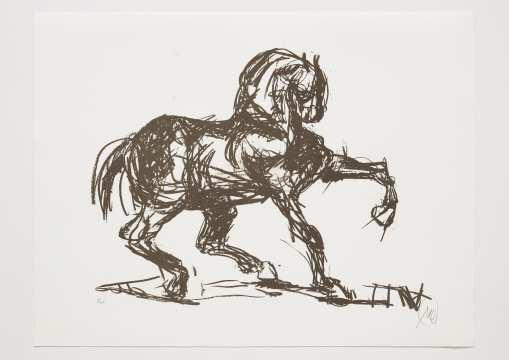 Markus Lüpertz - Troja (Motiv 11) Entstehungsjahr: 2019  Technik: Lithografie  Motiv: 50 x 70 cm  Blatt 61,3 x 81 cm  Auflage: 20 Exemplare, Foto: Jack Kulcke © Markus Lüpertz