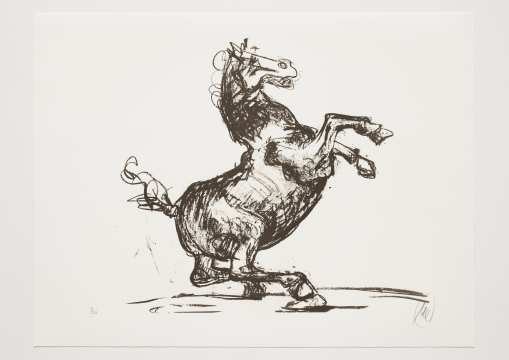 Markus Lüpertz - Troja (Motiv 12) Entstehungsjahr: 2019  Technik: Lithografie  Motiv: 50 x 70 cm  Blatt 61,3 x 81 cm  Auflage: 20 Exemplare, Foto: Jack Kulcke © Markus Lüpertz