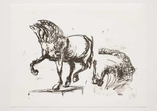 Markus Lüpertz - Troja (Motiv 14) Entstehungsjahr: 2019  Technik: Lithografie  Motiv: 50 x 70 cm  Blatt 61,3 x 81 cm  Auflage: 20 Exemplare Foto: Jack Kulcke © Markus Lüpertz