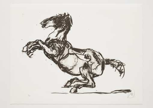 Markus Lüpertz - Troja (Motiv 15) Entstehungsjahr: 2019 Technik: Lithografie Motiv: 50 x 70 cm Blatt 61,3 x 81 cm Auflage: 20 Exemplare, Foto: Jack Kulcke © Markus Lüpertz