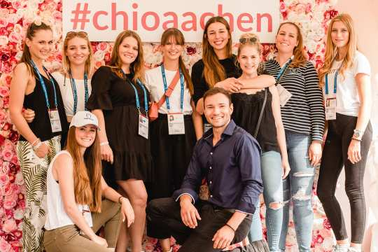 The bloggers at the CHIO Aachen 2019.