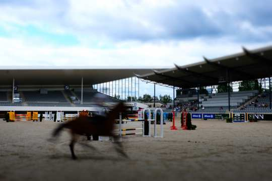 A maximum of 300 spectators are allowed in the Deutsche Bank Stadium, when the world show jumping elite meets up at the Aachen International Jumping on the first weekend in September. Photo: Aachen International Jumping