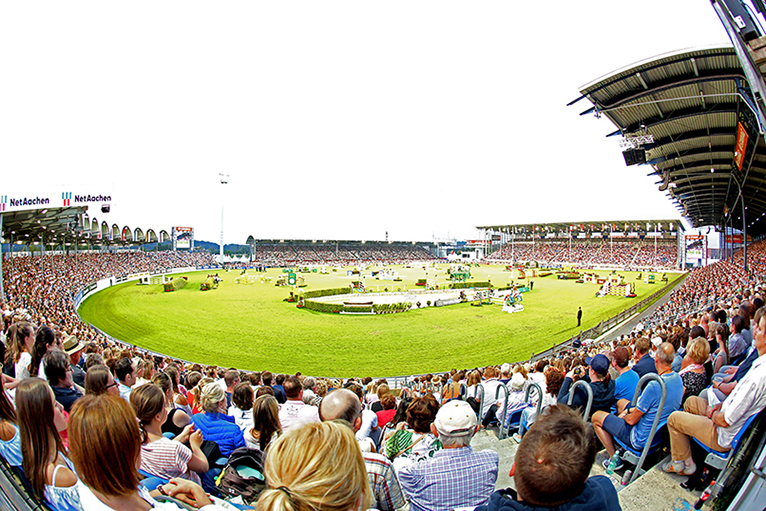 The FEI Youth Championships are going to be staged in the Main Stadium of the CHIO Aachen. Photo: Michael Strauch